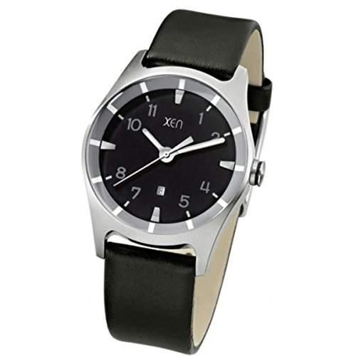 Xen Damen-Armbanduhr Analog Quarz Leder XQ0205