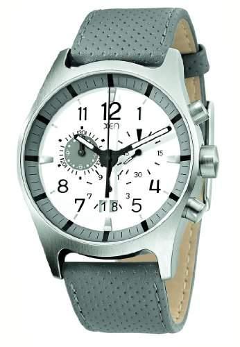 XEN Herren Chronograph grauweiss XQ0217