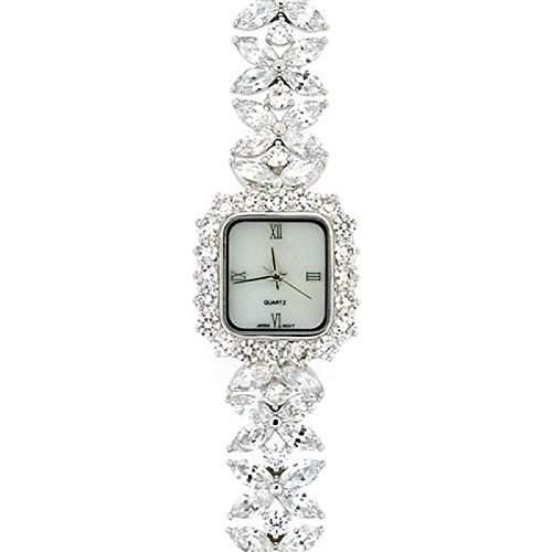 Damen Armbanduhr mit Kristallblume GOTW108