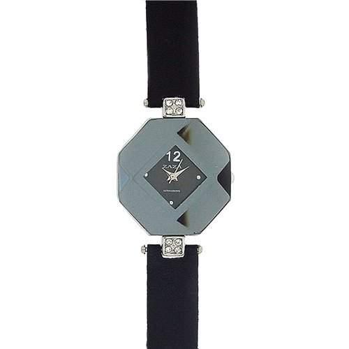 Zaza London achteckige Damenuhr mit blaugrauem Zifferblatt LLB 870 -