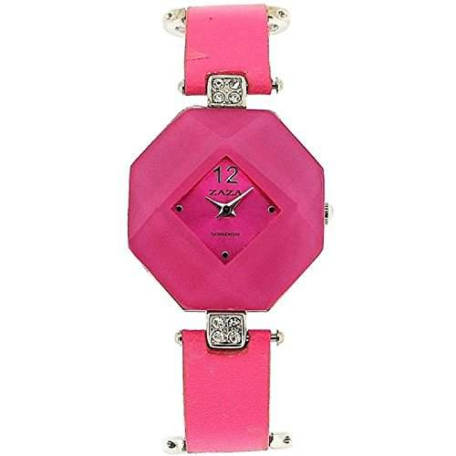 Zaza London achteckige Damenuhr mit rosa Zifferblatt LLB 870 -