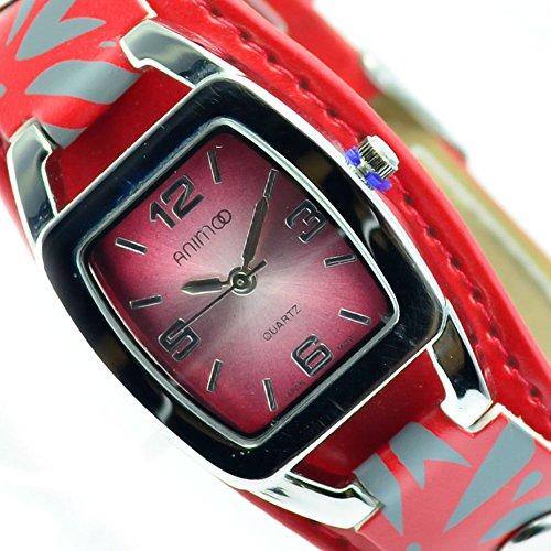 Animoo Rot Silber Fashion Mode Trend Al 582