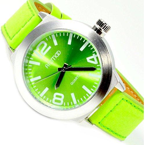 Animoo Damenuhr in Gruen Silber extrem schoene Armbanduhr fuer Damen