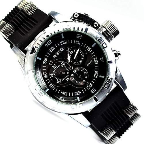 Herrenuhr XXXL von Animoo in Weiss mit Kautschukarmband UBoot Trend Fashion Uhr