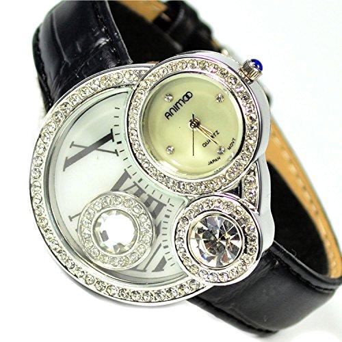 Armbanduhr Schwarz Silber Roemische Zahlen Trend Fashion Uhr Strassstein