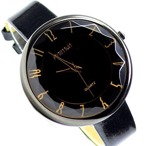 Armbanduhr Schwarz Trend Mode Damen Fashion Uhr