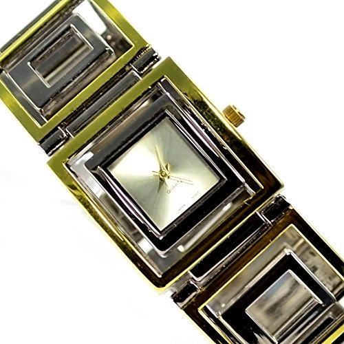 Silber Gold Mode Fashion Uhr mit Faltschliesse al 560