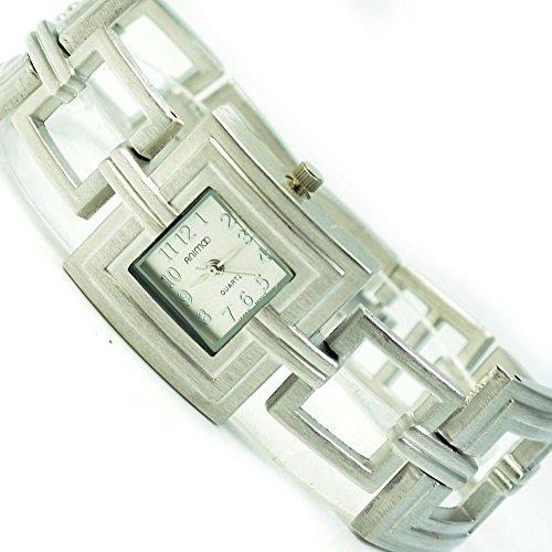 Silber Matt Mode Fashion Uhr mit Faltschliesse al 531
