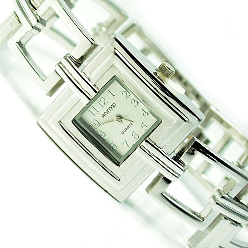 Silber Mode Fashion Uhr mit Faltschliesse al 531