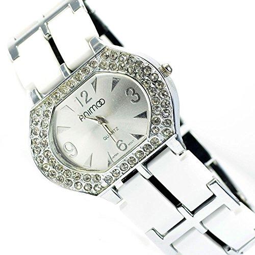 Silber Strass Strasssteine Fashion Mode Uhr al 516