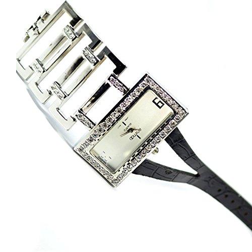 Silber Strass Mode Fashion Edel Fein Elegant Klassisch Armbanduhr al03