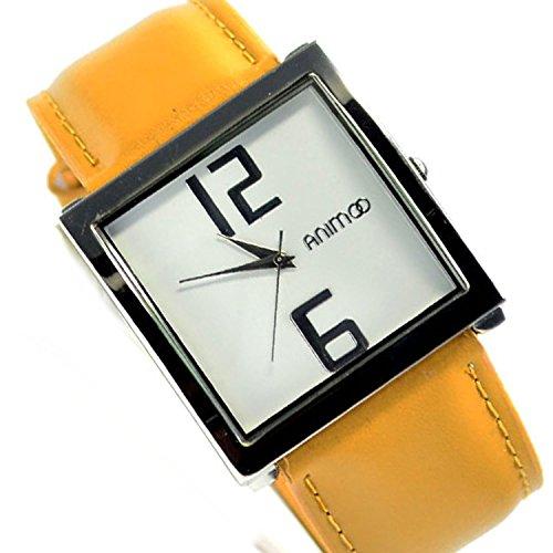 Silber Weiss Beige Fashion Edel Fein Elegant Klassisch Armbanduhr 87