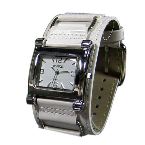 Leder in Weiss Silber Retro Designer Uhr Trend Watch