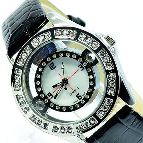 Design Schwarz Silber Edel Elegant mit Strass AL 558