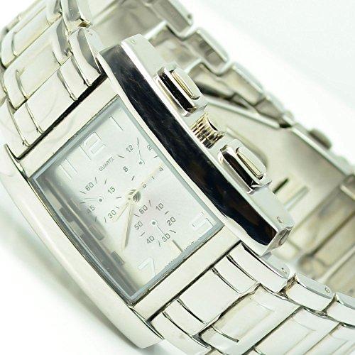 Silber Chornograph Look Elegant Klassische Uhr 557