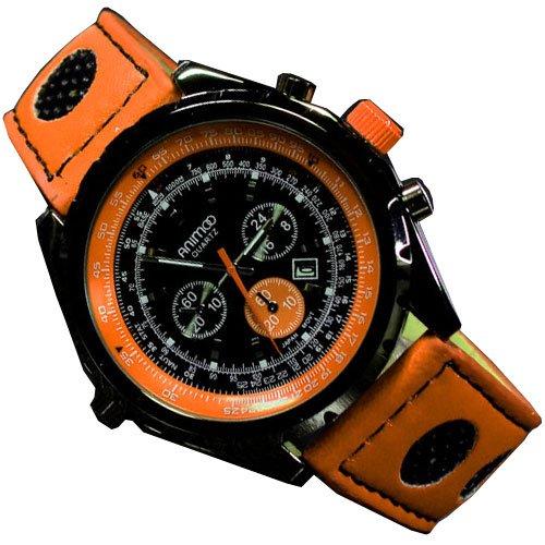 Chronograph Look mit Datumanzeige Flieger Blau Uhr Retro XXL Design U Boot Schwarz Uhr jb 521