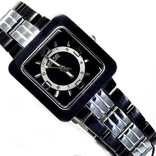 Schwarze Herren Armbanduhr von Sinobi mit Falschliesse und Kunstoffarmband al 508