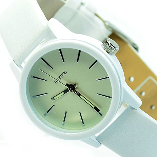Wunderschoene Armbanduhr Weiss Silber Trend Mode Fashion Uhr al 573