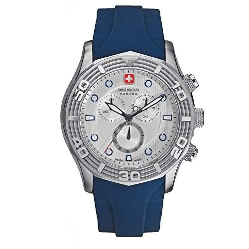 Swiss Military Hanowa Herren-Armbanduhr XL Analog Quarz Plastik 06-419604001