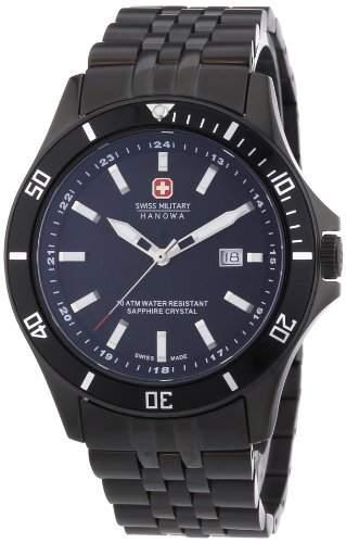 Swiss Military Hanowa Herren-Armbanduhr XL Analog Quarz Edelstahl beschichtet 06-5161713007