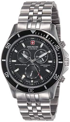 Swiss Military Hanowa Herren-Armbanduhr XL Analog Quarz Edelstahl 06-518304007