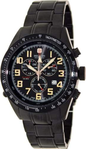 Swiss Military Hanowa Herren-Armbanduhr XL Analog Quarz Edelstahl beschichtet 06-519913007