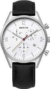 Bering Time Herren-Armbanduhr Chronograph Quarz Leder 10542-404