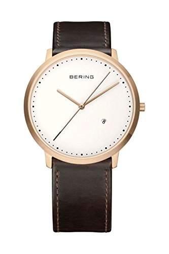 Bering Time Herren-Armbanduhr Analog Quarz Leder 11139-564