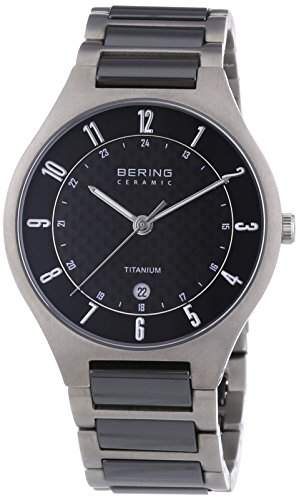 Bering Time Herren-Armbanduhr XL Analog Quarz verschiedene Materialien 11739-702
