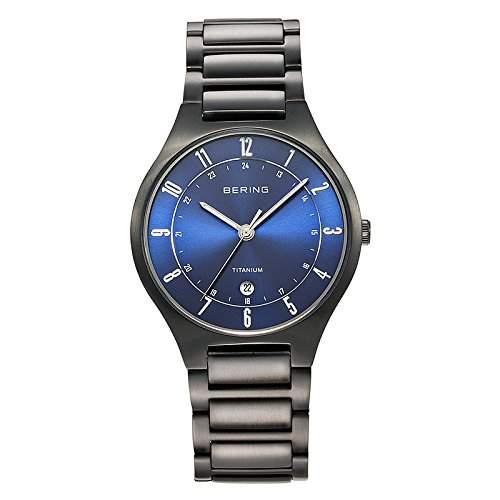 Bering Time Herren-Armbanduhr XL Analog Quarz Titan 11739-727