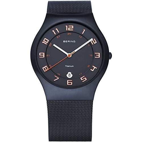BERING Classic Herrenuhr schwarzrot 11937-393