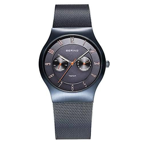 Bering Herren-Armbanduhr Analog Quarz Edelstahl beschichtet 11939-393