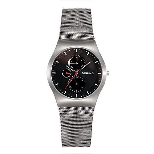 Bering Time Herren-Armbanduhr XL Classic Analog Quarz Edelstahl 11942-372