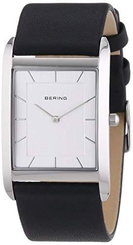 Bering Time Herren-Armbanduhr XL Analog Quarz Leder 14030-400