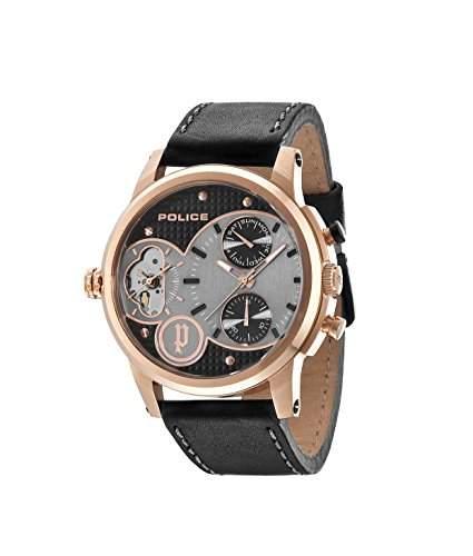 Police Herren-Armbanduhr DIAMONDBACK Chronograph Quarz Leder 14376JSR02