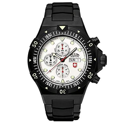 CX Swiss Military Watch Conger Nero Auto Chronograph 2555