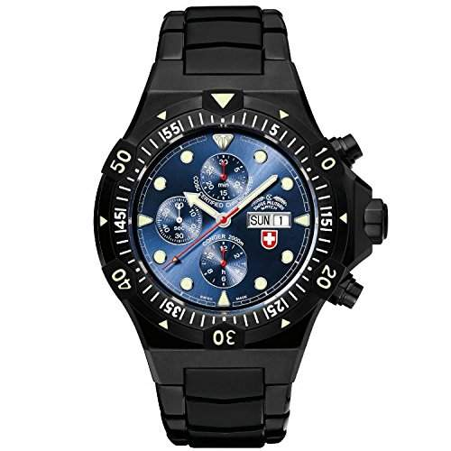 CX Swiss Military Watch Conger Nero Auto Chronograph 2557