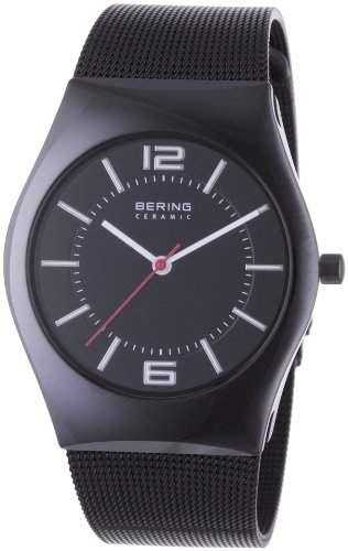 Bering Time Herren-Armbanduhr Slim Ceramic Analog Quarz 32035-642