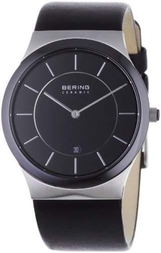 Bering Time Herren-Armbanduhr Slim Ceramic schwarz 32239-447