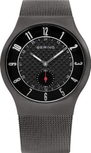 Bering Time Herren-Armbanduhr XL Radio-Controlled Analog Edelstahl beschichtet 51940-077