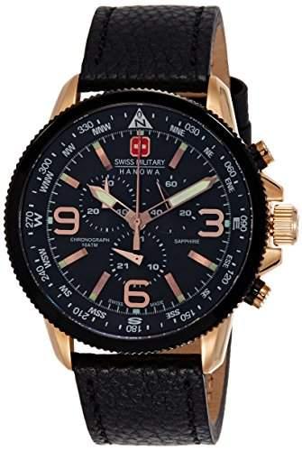 Swiss Military Hanowa Herren-Armbanduhr ARROW Chrono Analog Quarz Leder 06-422409007