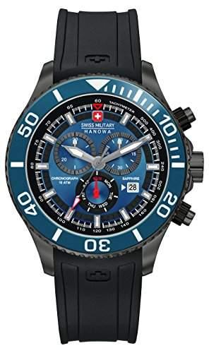 Swiss Military Hanowa Herren-Armbanduhr XL IMMERSION Chrono Analog Quarz Silikon 06-422630003