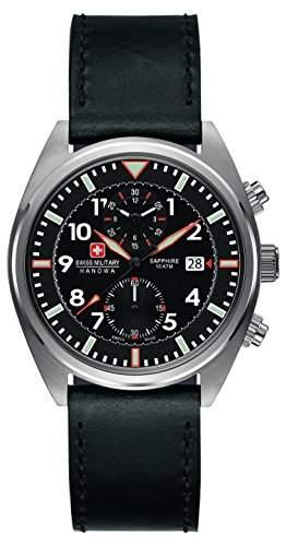 Swiss Military Hanowa Herren-Armbanduhr XL AIRBORNE Chrono Analog Quarz Leder 06-422704007