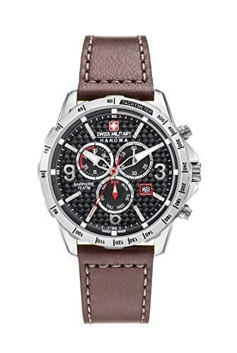 Swiss Military Hanowa Herren-Armbanduhr ACE Chrono Analog Quarz Leder 06-425104007
