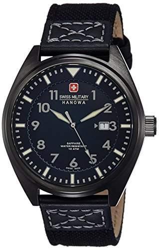 Swiss Military Hanowa Herren-Armbanduhr AIRBORNE Analog Quarz Textil 06-425830007