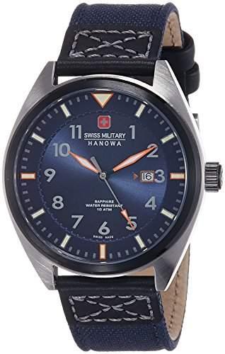 Swiss Military Hanowa Herren-Armbanduhr AIRBORNE Analog Quarz Textil 06-425833003