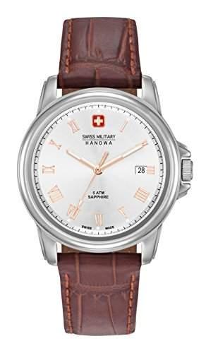 Swiss Military Hanowa Herren-Armbanduhr CORPORAL Analog Quarz Leder 06-42590400105