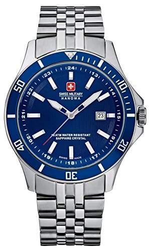 Swiss Military Hanowa Herren-Armbanduhr XL Analog Quarz Edelstahl 06-5161704003