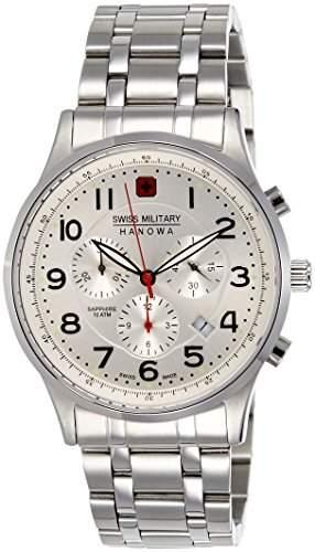 Swiss Military Hanowa Herren-Armbanduhr XL Analog Quarz Edelstahl 06-518704001