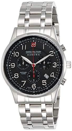 Swiss Military Herren-Armbanduhr Chronograph Quarz Edelstahl 6-518704007